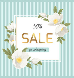 Spring sale discount anemone hellebore flowers vector