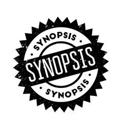 Synopsis rubber stamp vector