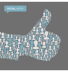 thumb up symbol social vector image