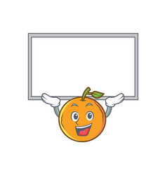 Up board orange fruit cartoon character vector