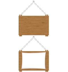 wooden board 02 vector image