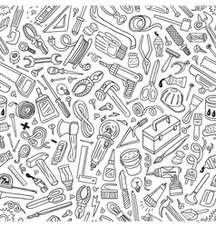 working tools - seamless pattern vector image