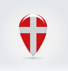 Denmark icon point for map vector