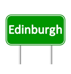 Edinburgh road sign vector