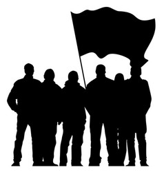 Silhouettes of protesters vector