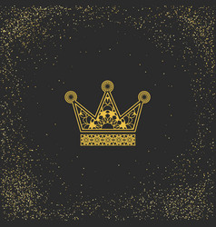 ornamental crown logo template vector image