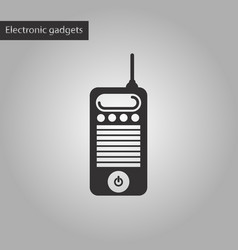 black and white style icon old cell phone vector image