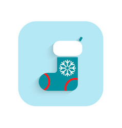 Stocking christmas flat icon holiday symbol vector
