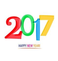 2017 - Happy New Year vector image