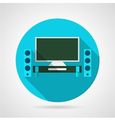 Home theater flat icon vector image