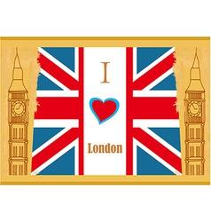 Grunge banner - i love london vector