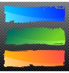 Collection of abstract grunge banners vector image