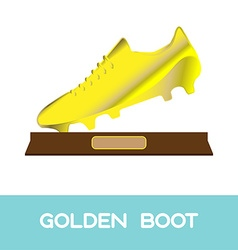Golden boot soccer reward vector
