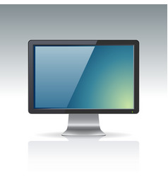 Computer screen isolated on gradient background vector