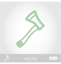 Axe ax hatchet icon vector