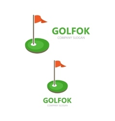 golf club logo design vector image