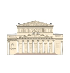 Bolshoi theater in moscow vector