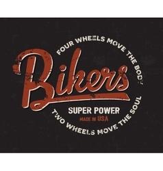 Biker motorbike motorcycle typography Vintage vector image