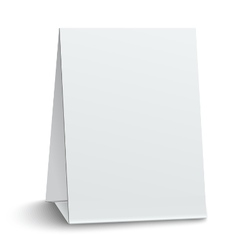 Blank paper table card isolated on white vector