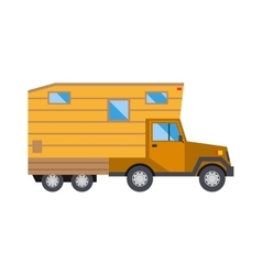 Ccaravan travel car vehicle trailer house summer vector
