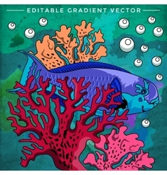 Colorful aquarium fish vector