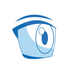 comic eye looking expression vision vector image vector image