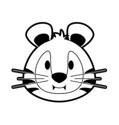 cute tiger cartoon vector image vector image