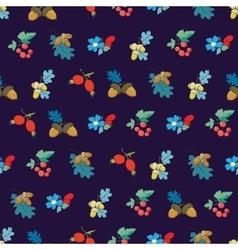 Dark blue colorful berries nuts seamless vector