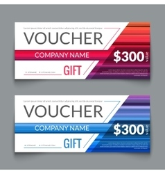 Discount Voucher market Design Template with vector image