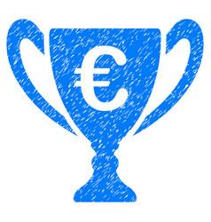 Euro cup grunge icon vector