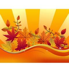 Fall season background vector image vector image