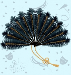 feathers fan vector image vector image