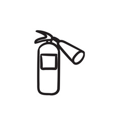 Fire extinguisher sketch icon vector