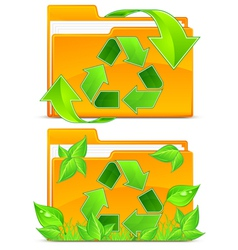 folders green plants vector image