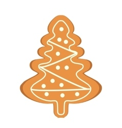 Gingerbread in the form of Christmas tree vector image