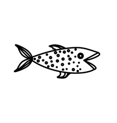 Isolated fish design vector