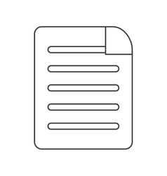 lined paper document icon vector image