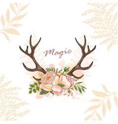 magic horn deer vector image