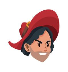 pirate man costume halloween costume vector image