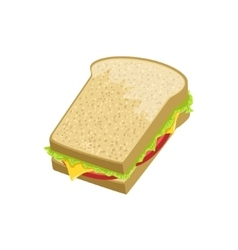 Sandwich street food menu item realistic detailed vector