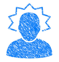 user emergency grunge icon vector image