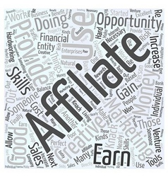 What is affiliate marketing word cloud concept vector