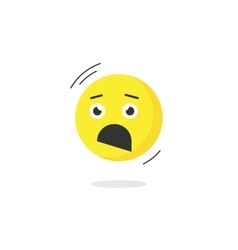 Fear emoticon face icon isolated scared emotion vector