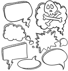 doodle voice bubbles comic vector image