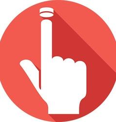 Hand pressing button icon vector