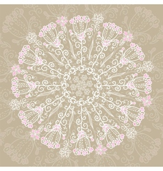 Vintage ethnic ornament mandala background vector image