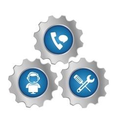 tecnical repair service emblem icon vector image