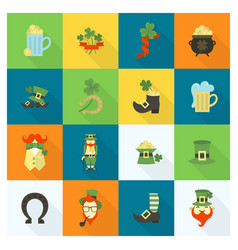 saint patricks day icon set vector image