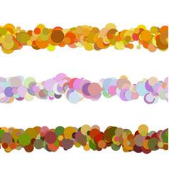 Random dot pattern line separator set from vector