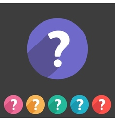 Flat game graphics icon question vector